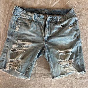 American Eagle Jean Shorts Tom Girl Bermuda size 8